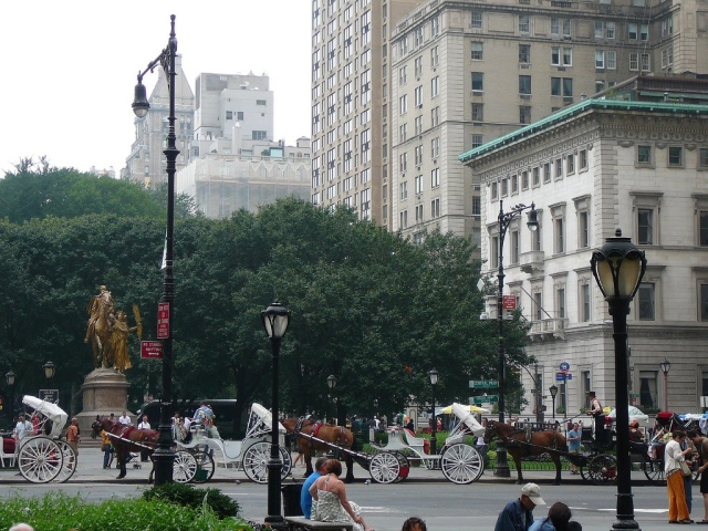 corner of central park & the city